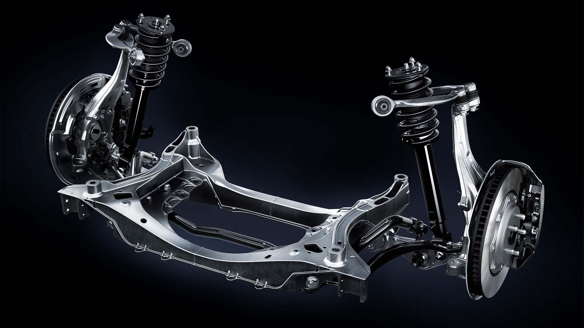 2017 lexus lc 500 features multi link suspension