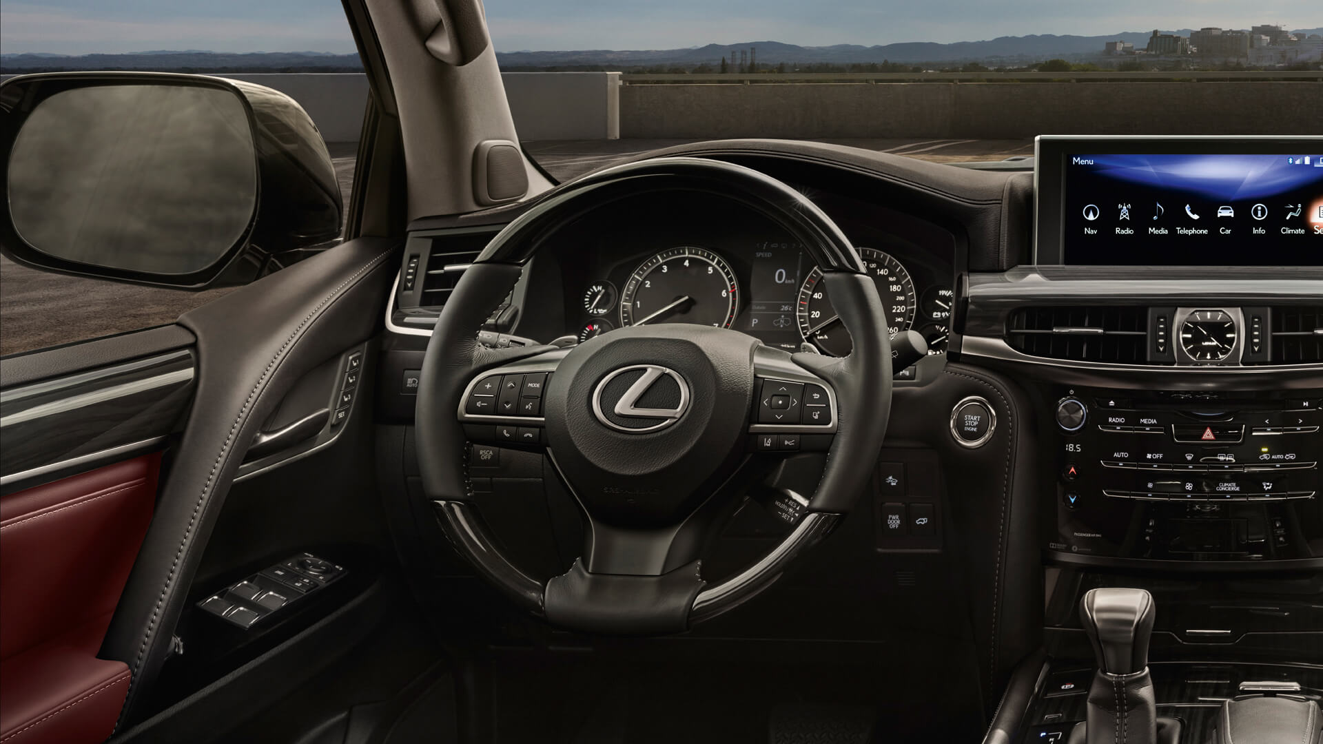 22018 lexus lx 570 features stearing wheel