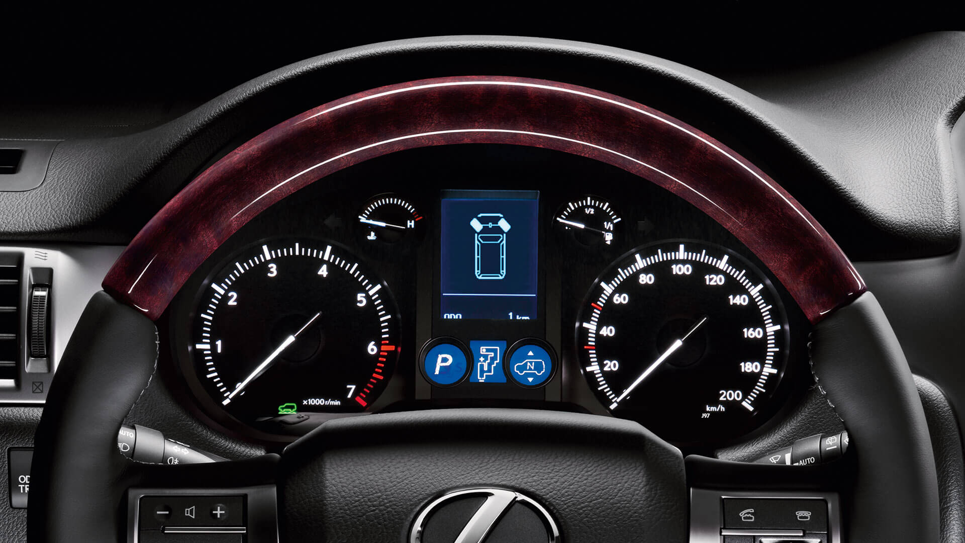 2017 lexus gx 460 features steering angle display