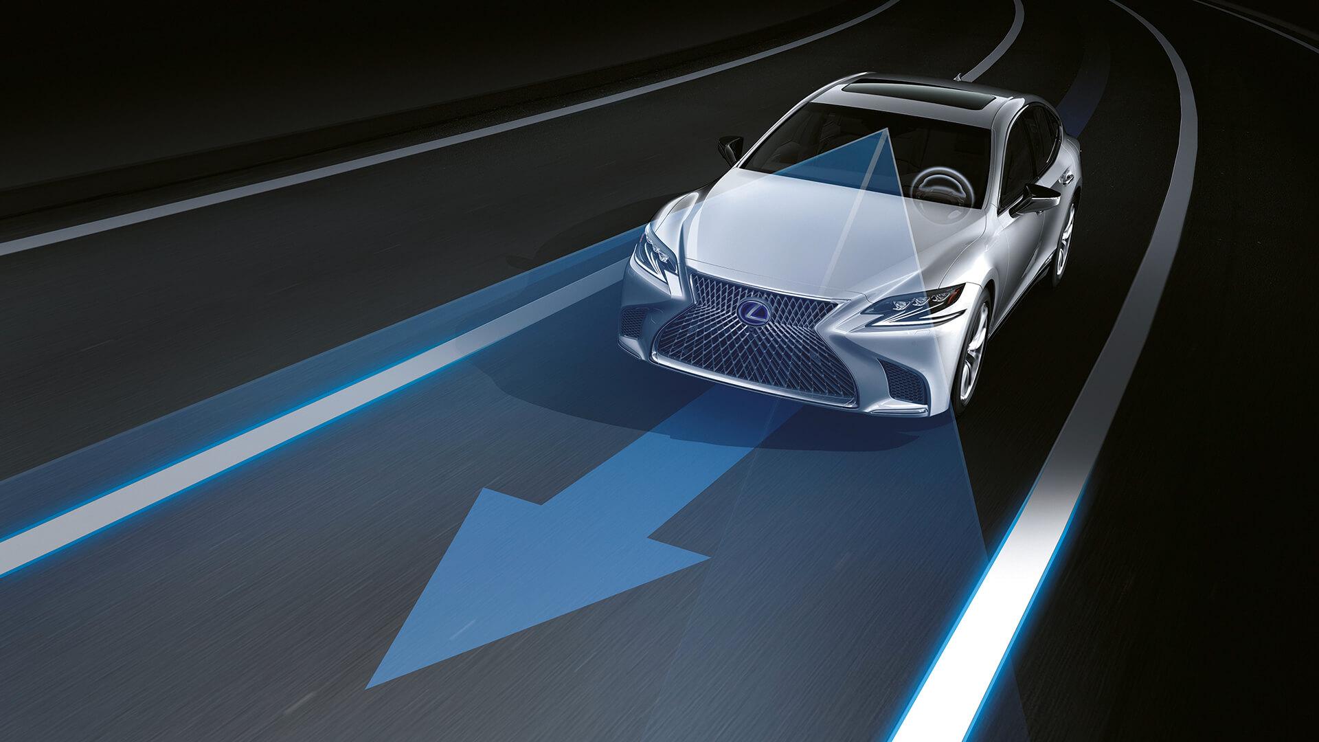 2018 lexus ls features advanced lane keeping assist