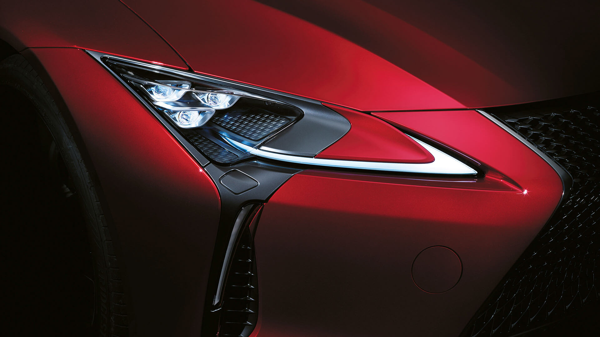 2017 lexus lc 500 features led headlights