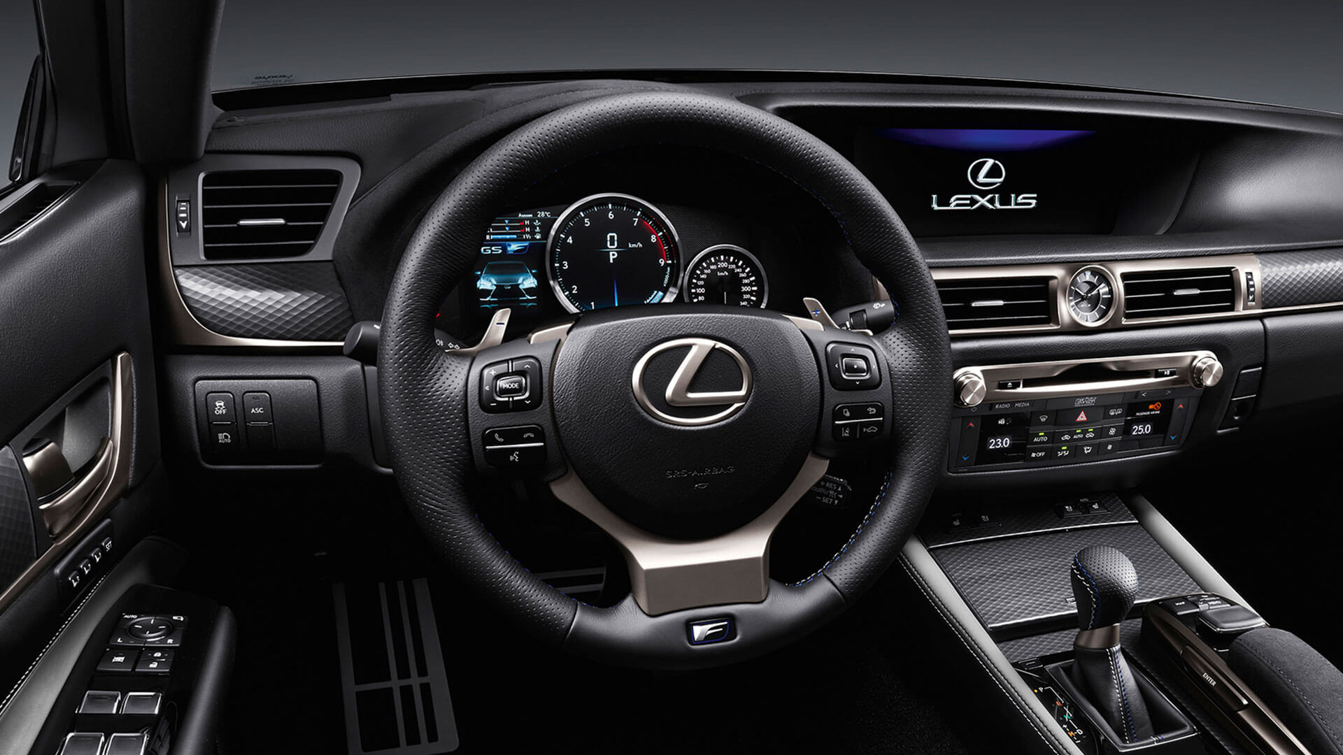 2017 lexus gs f features sports steering wheel