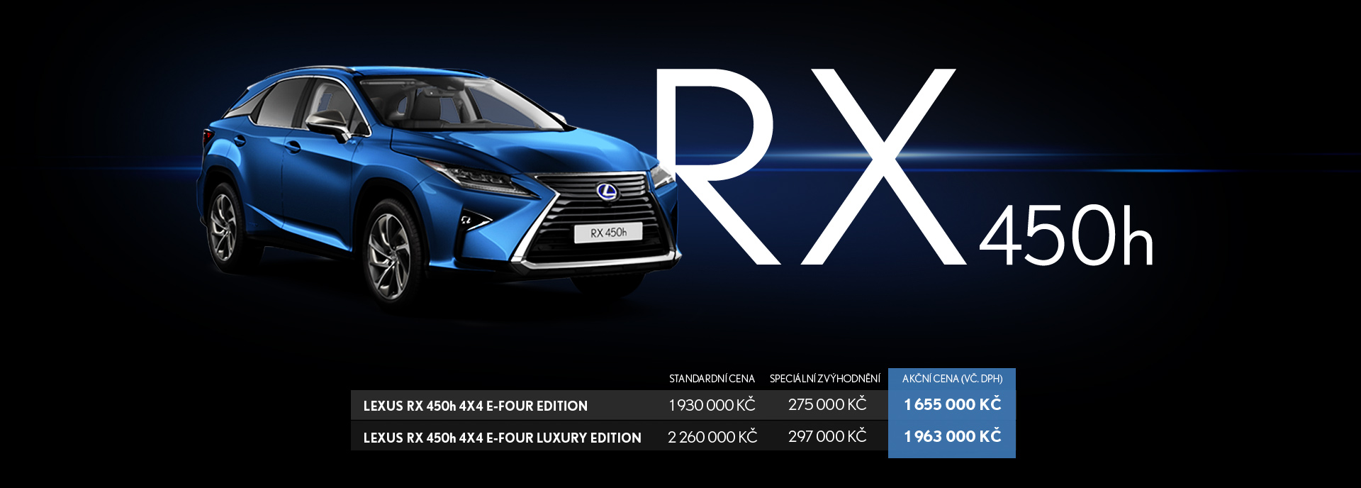 RX 450h Banner Image