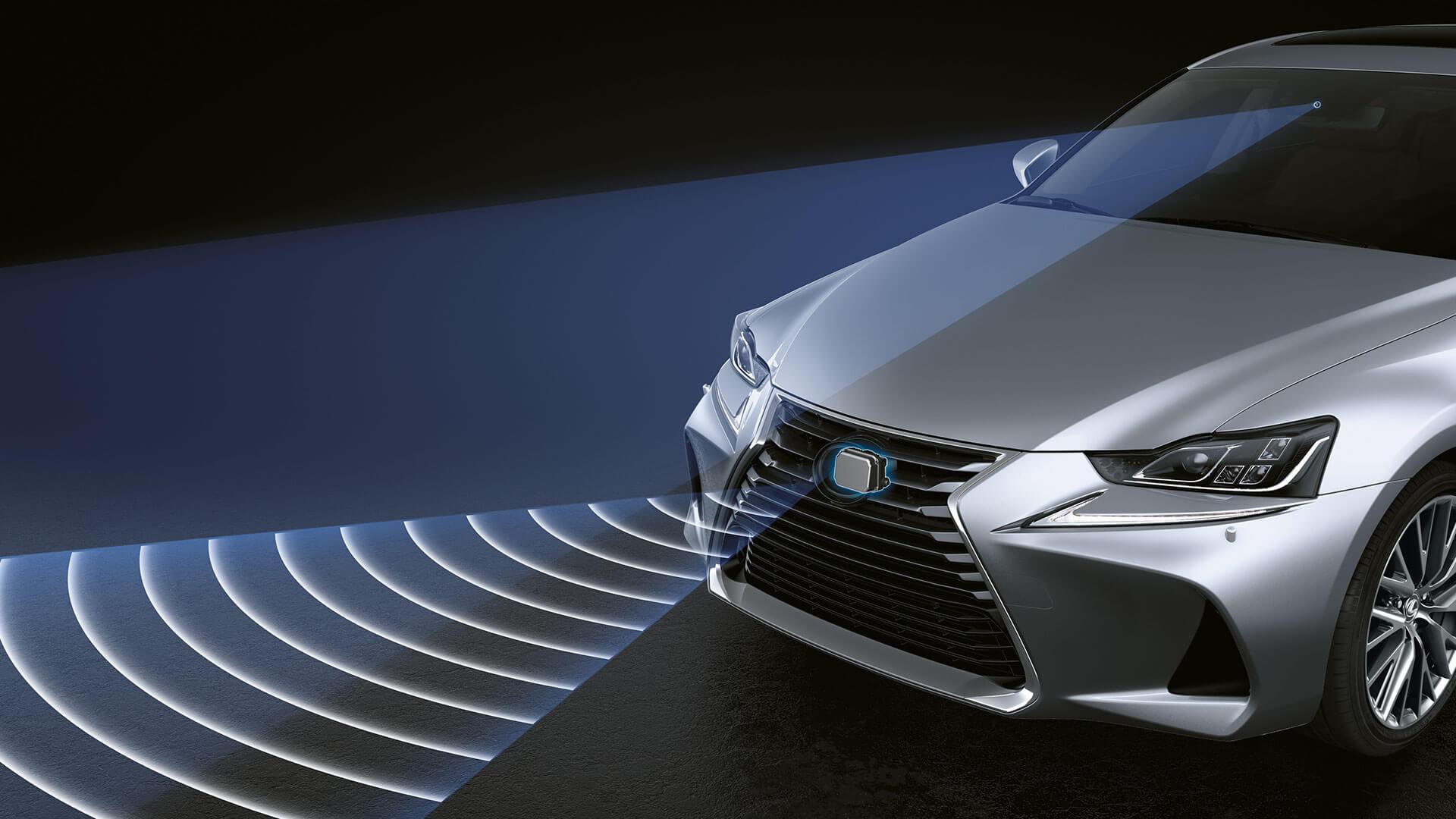 2017 lexus is 300h features pedestrian detection