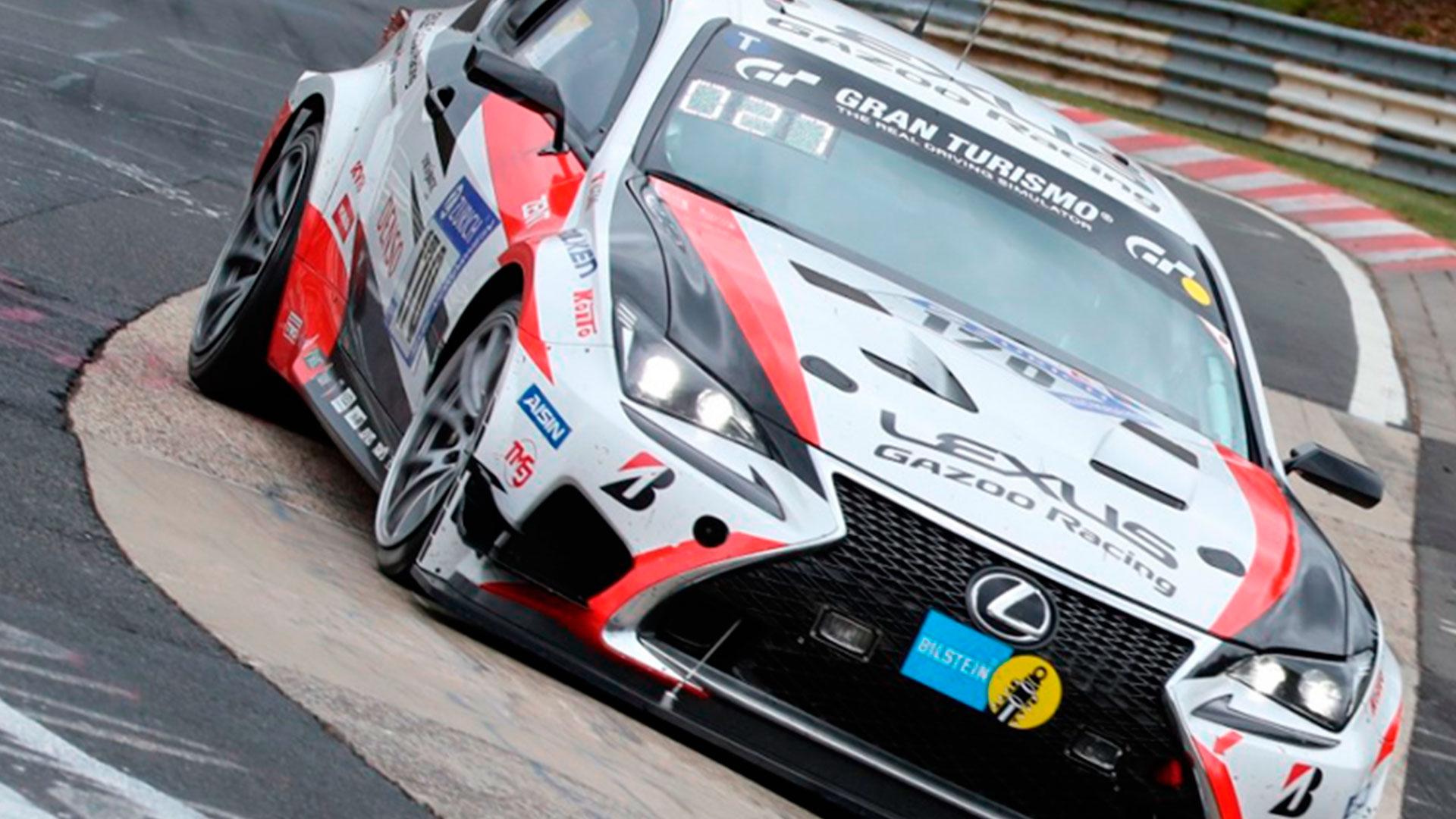 Lexus RC en la carrera de Nurburgring hero asset