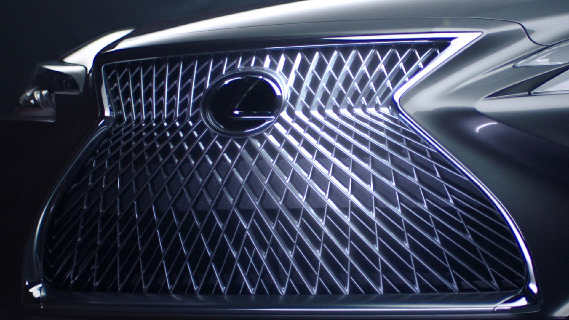 Rejilla frontal en el nuevo Lexus LS