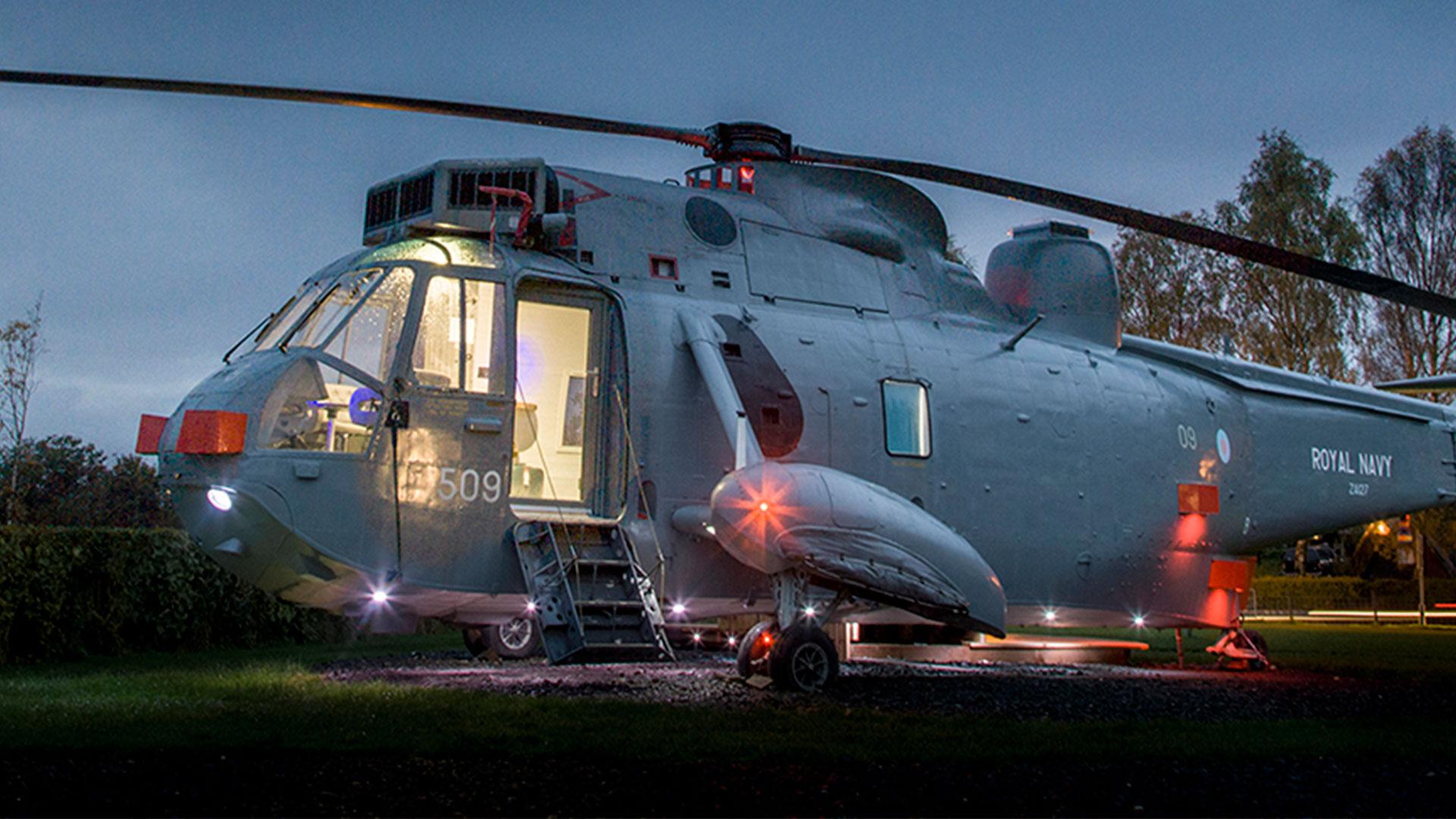Vacaciones en un helicóptero hero asset
