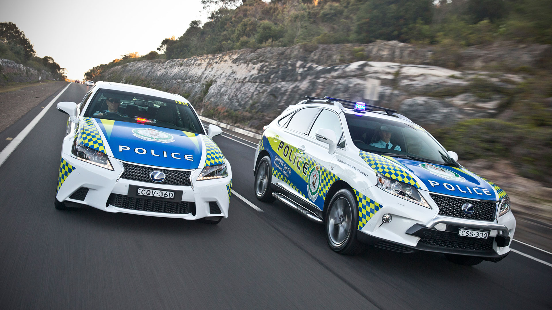 Lexus Hybrid Drive para policía hero asset