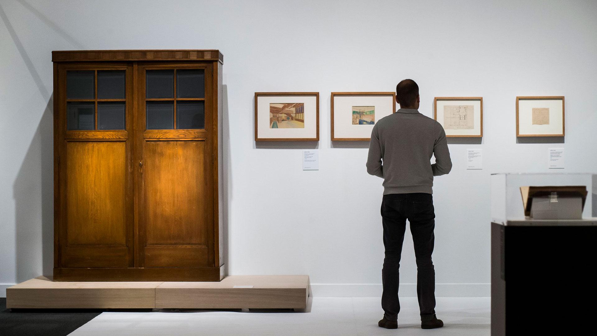 Interior de la exposición de Adolf Loos en Caixaforum Madrid