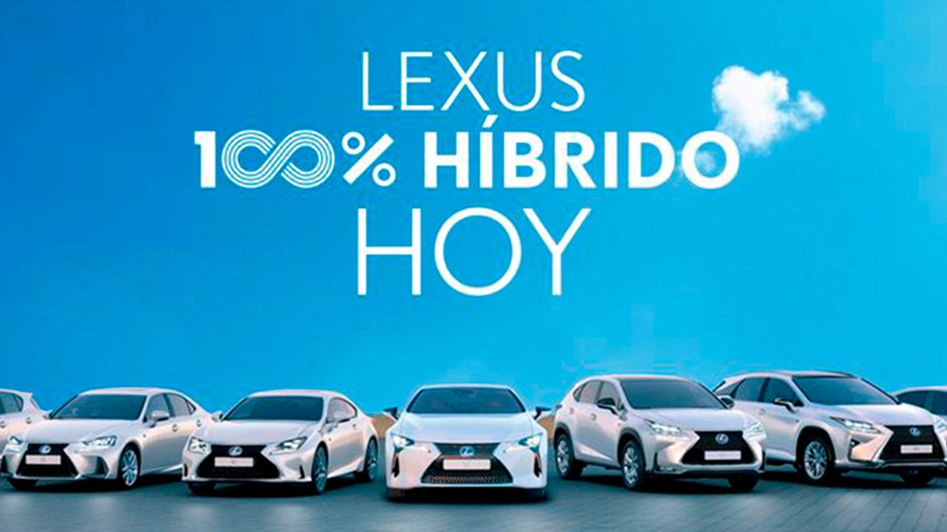 Lexus 100 híbrido hero asset