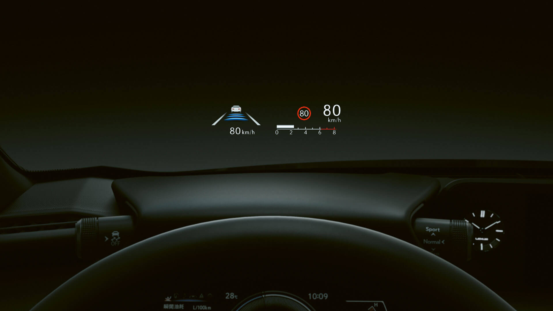 2018 lexus ux hotspot heads up display