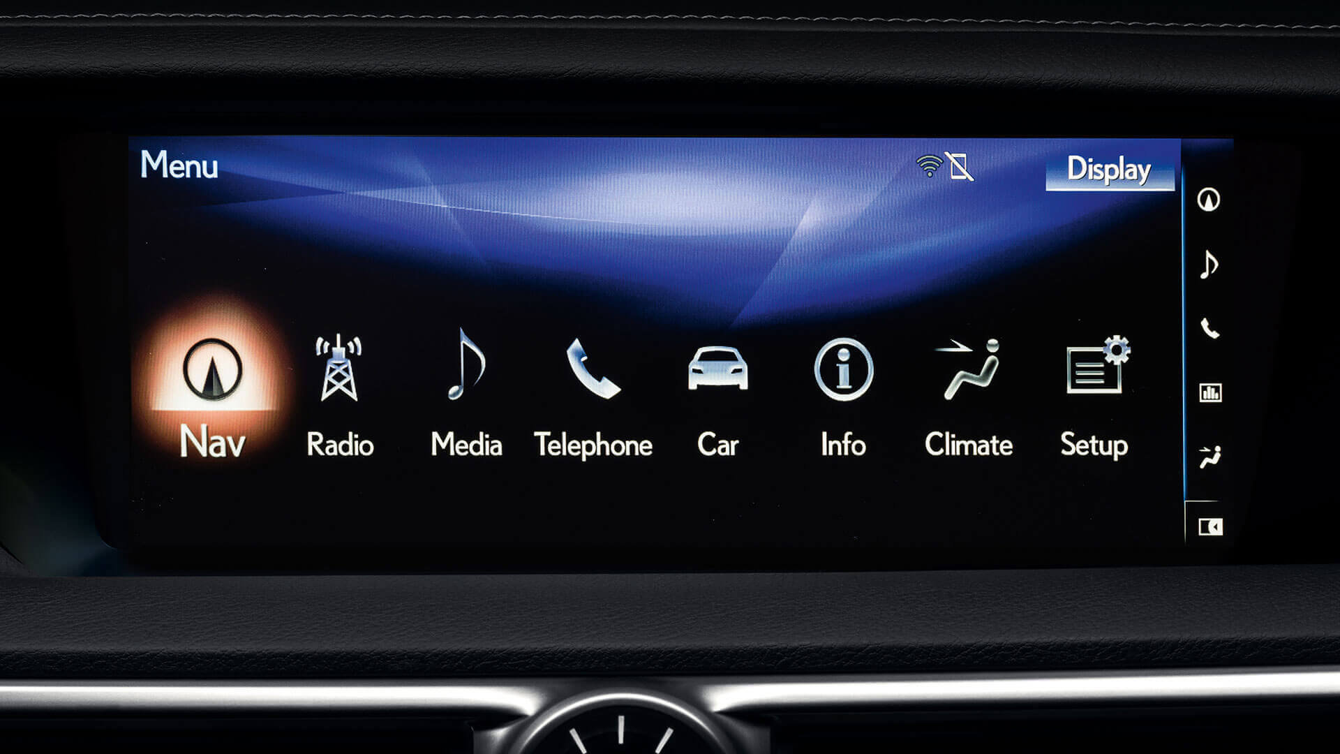 2011 lexus gs 300h features 12 3 inch multimedia display
