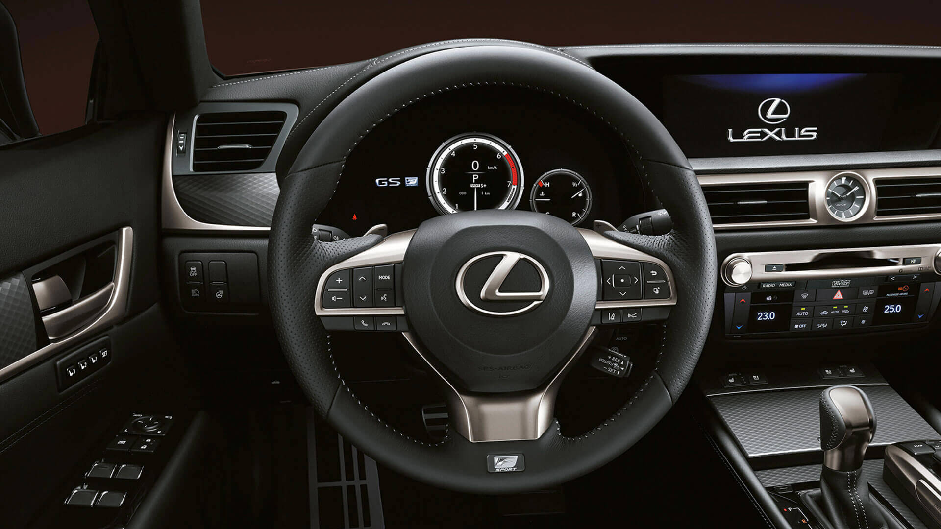 2015 lexus gs 200t features steering wheel