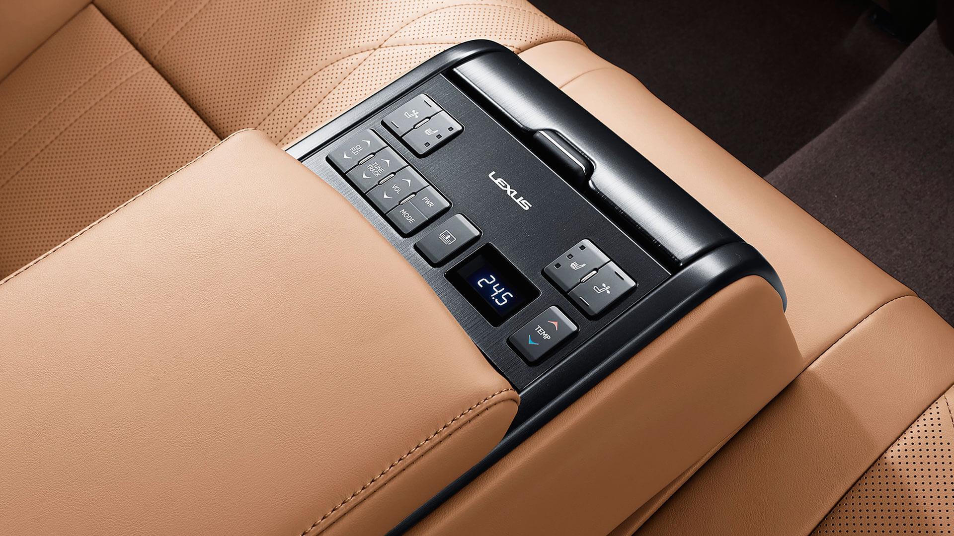 2019 lexus es 250 experience feature rear seat control panel