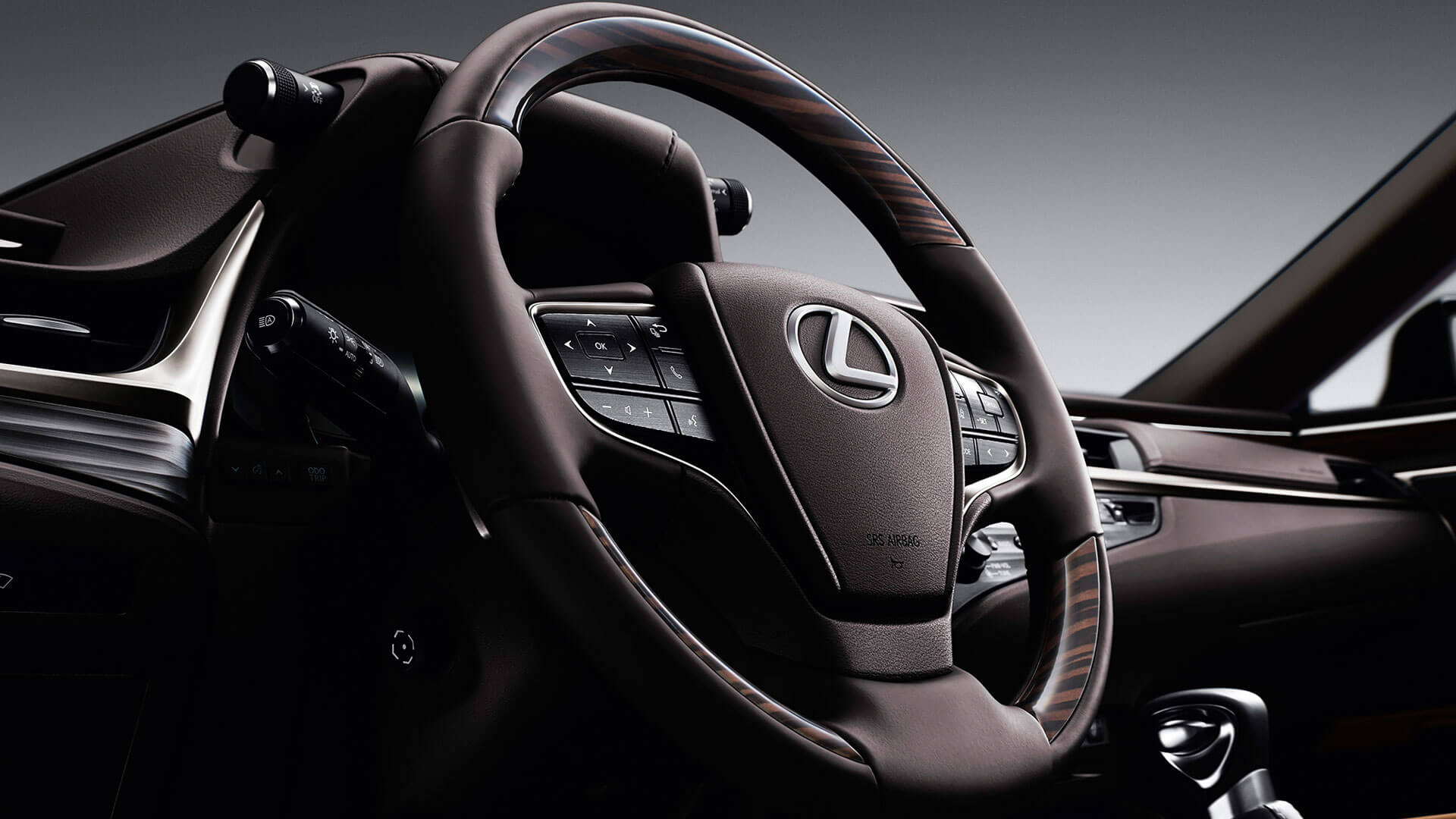 2019 lexus es hybrid experience feature leather steering wheel