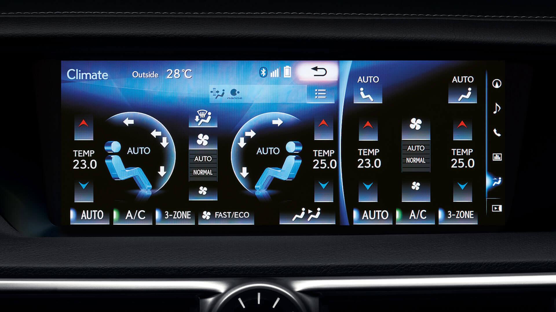2016 lexus gs 450h features 3 zone climate