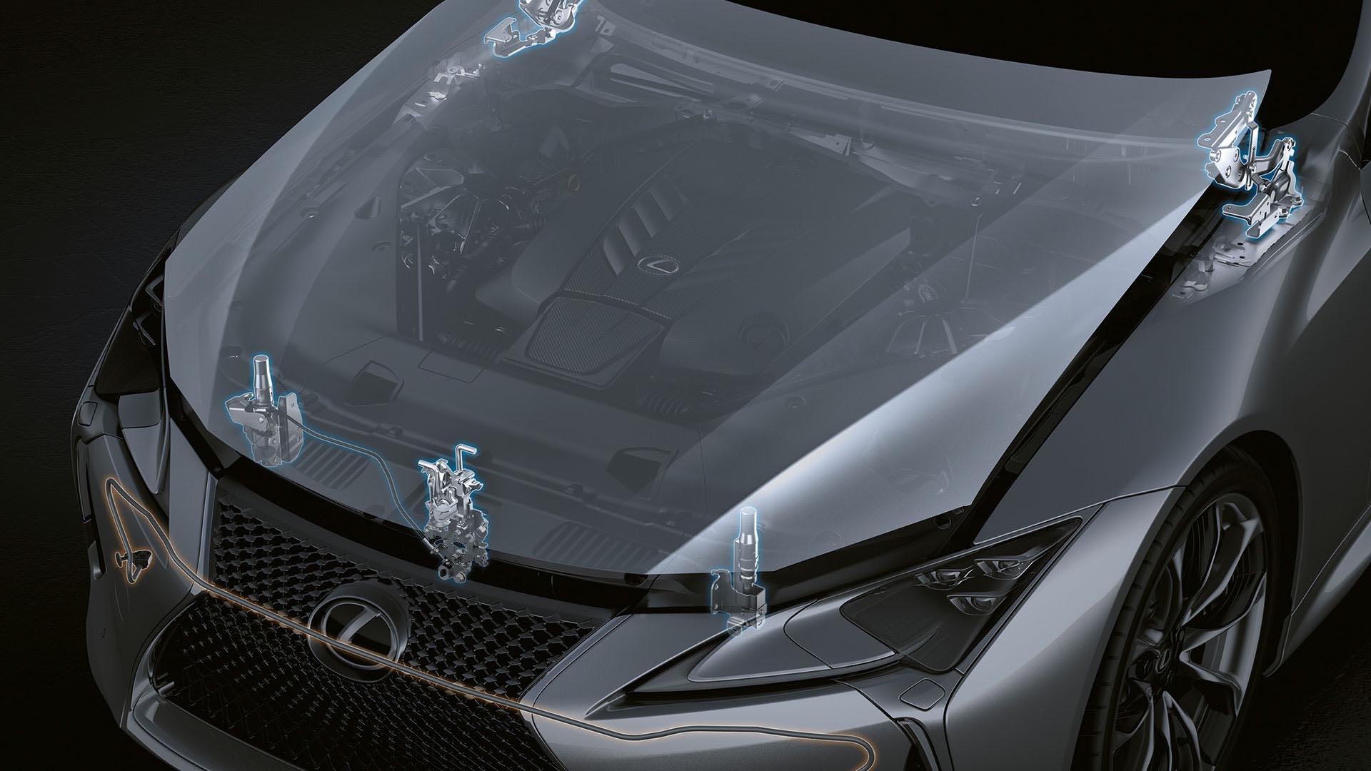 2017 lexus lc 500h features pop up hood