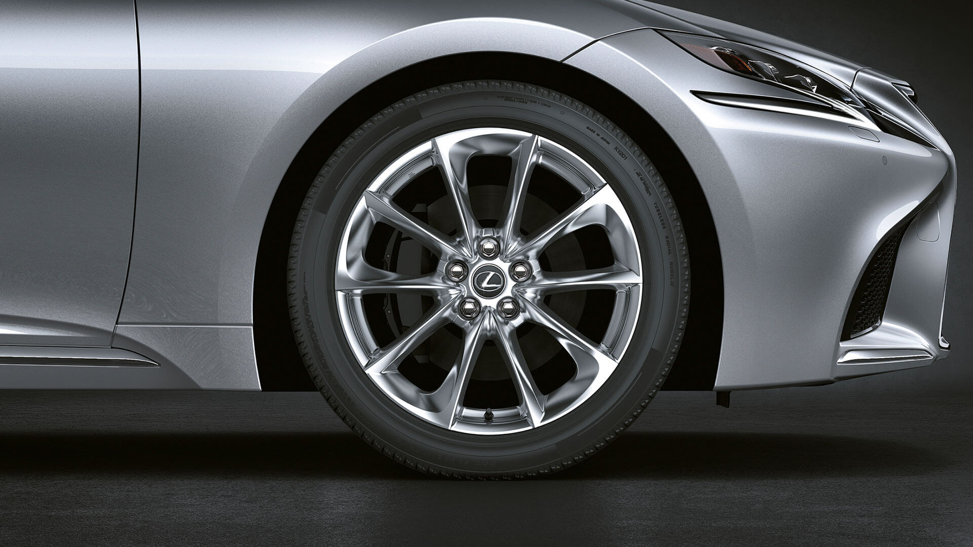 2018 lexus ls features 20 forged alloy wheels