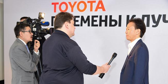 Перемены к лучшему пресс конференция Тойота Мотор Казахстан 2016 год