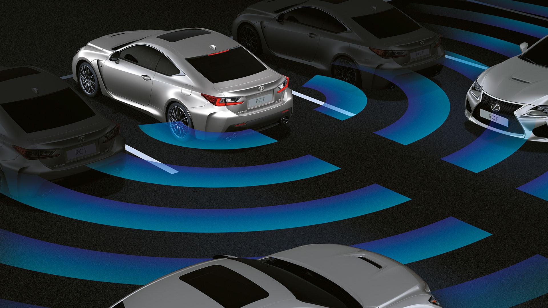 2018 lexus rc f features rear cross traffic alert