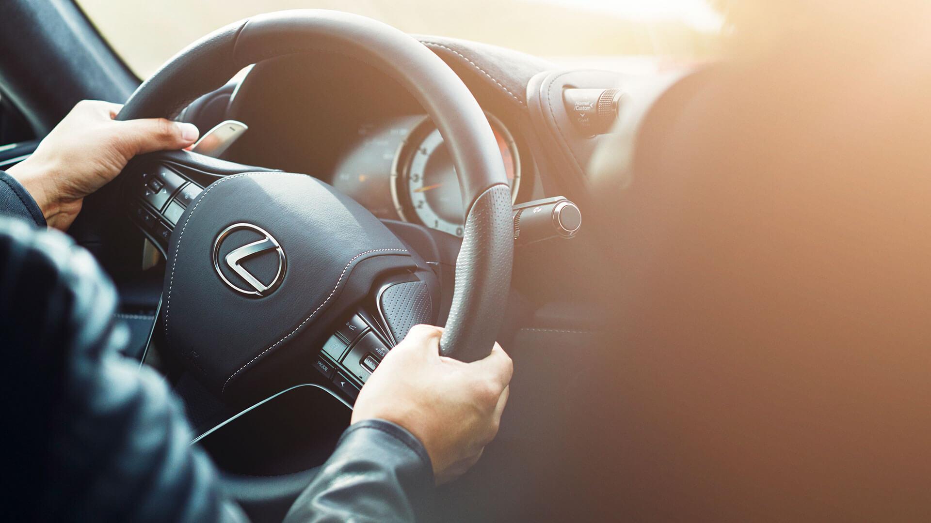 Stuur van een Lexus LC 500h
