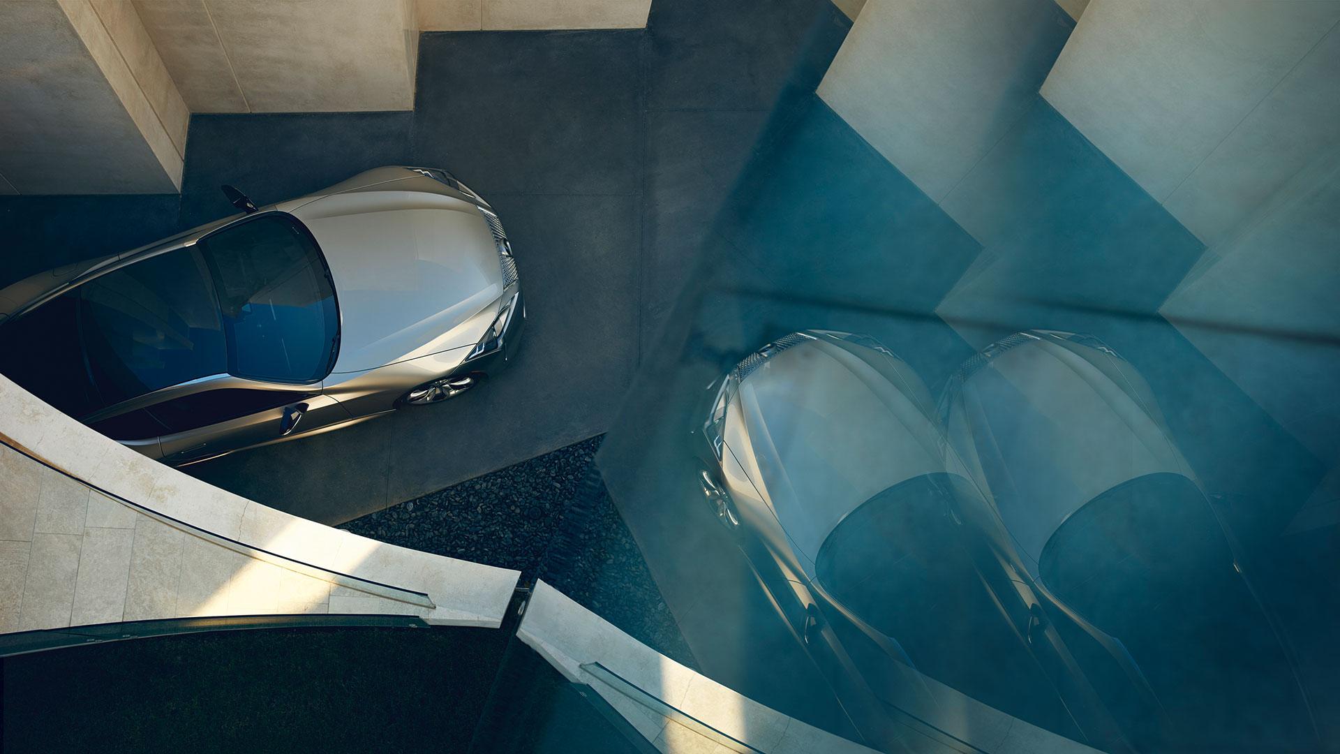 Bovenkant van een Lexus LC 500h