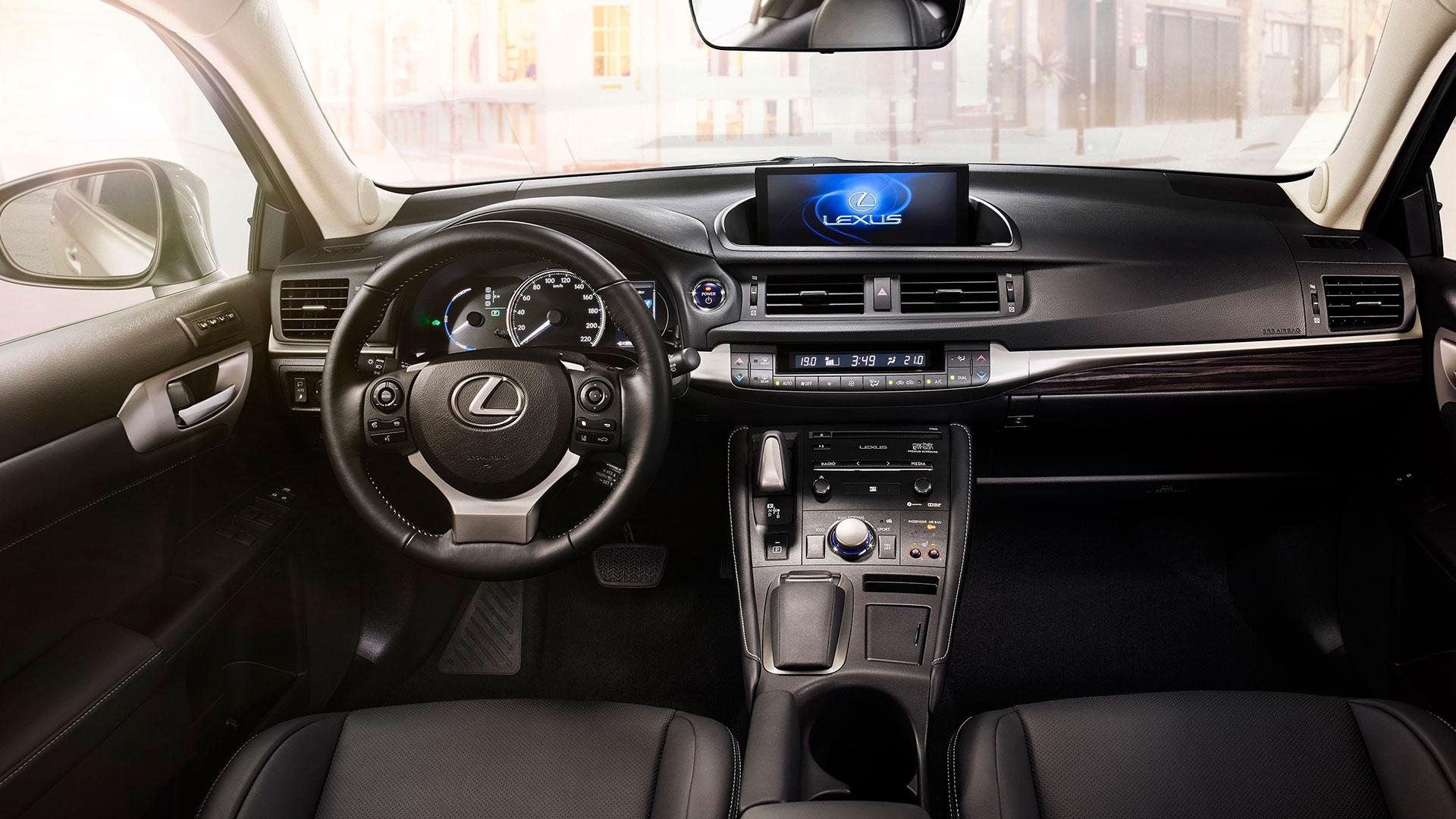 Binnenkant van een Lexus CT 200h