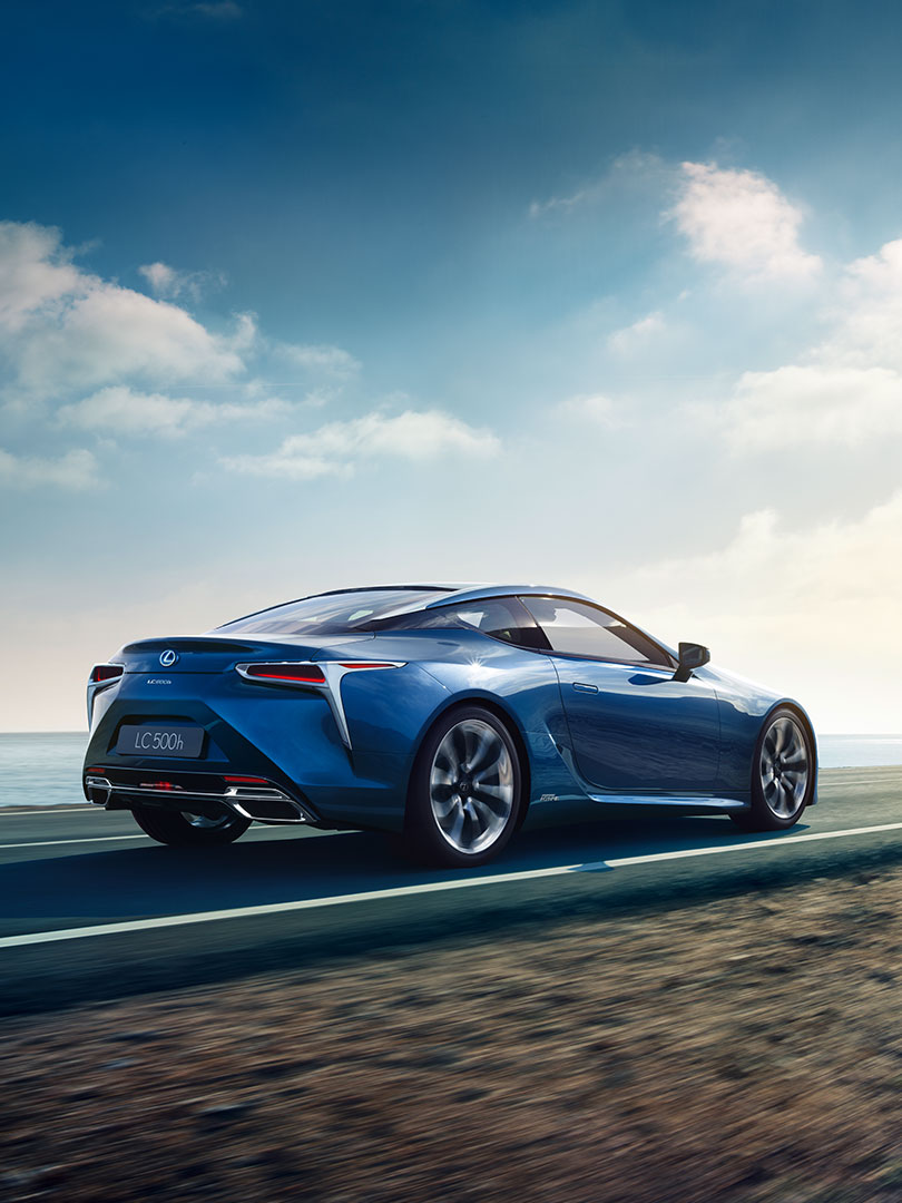 2018 lexus lc blue achieving impossible