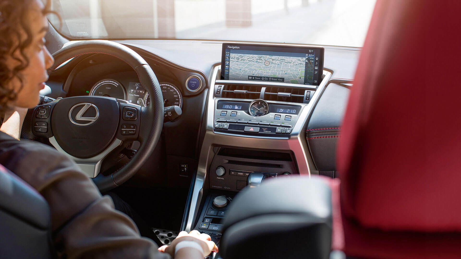 Bedieningspaneel van een Lexus