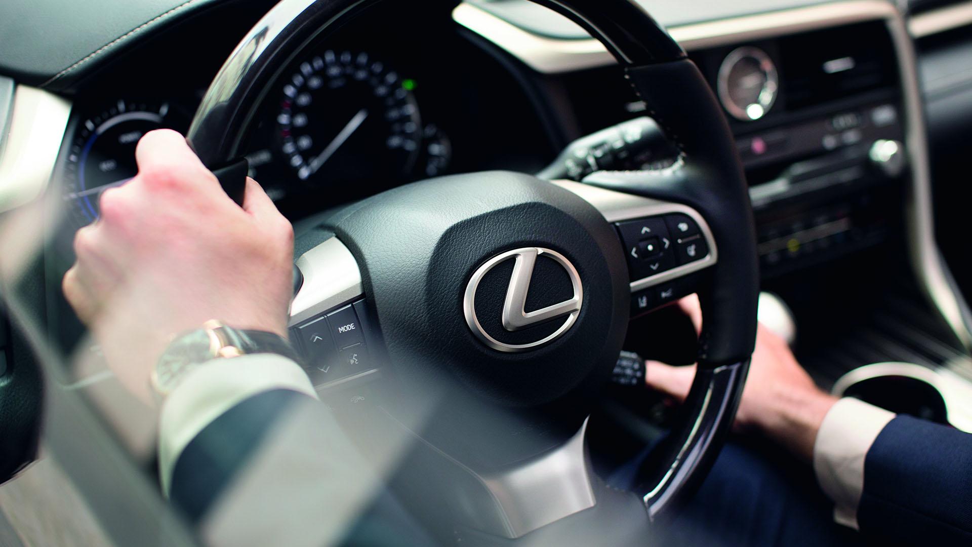 Stuur van een Lexus