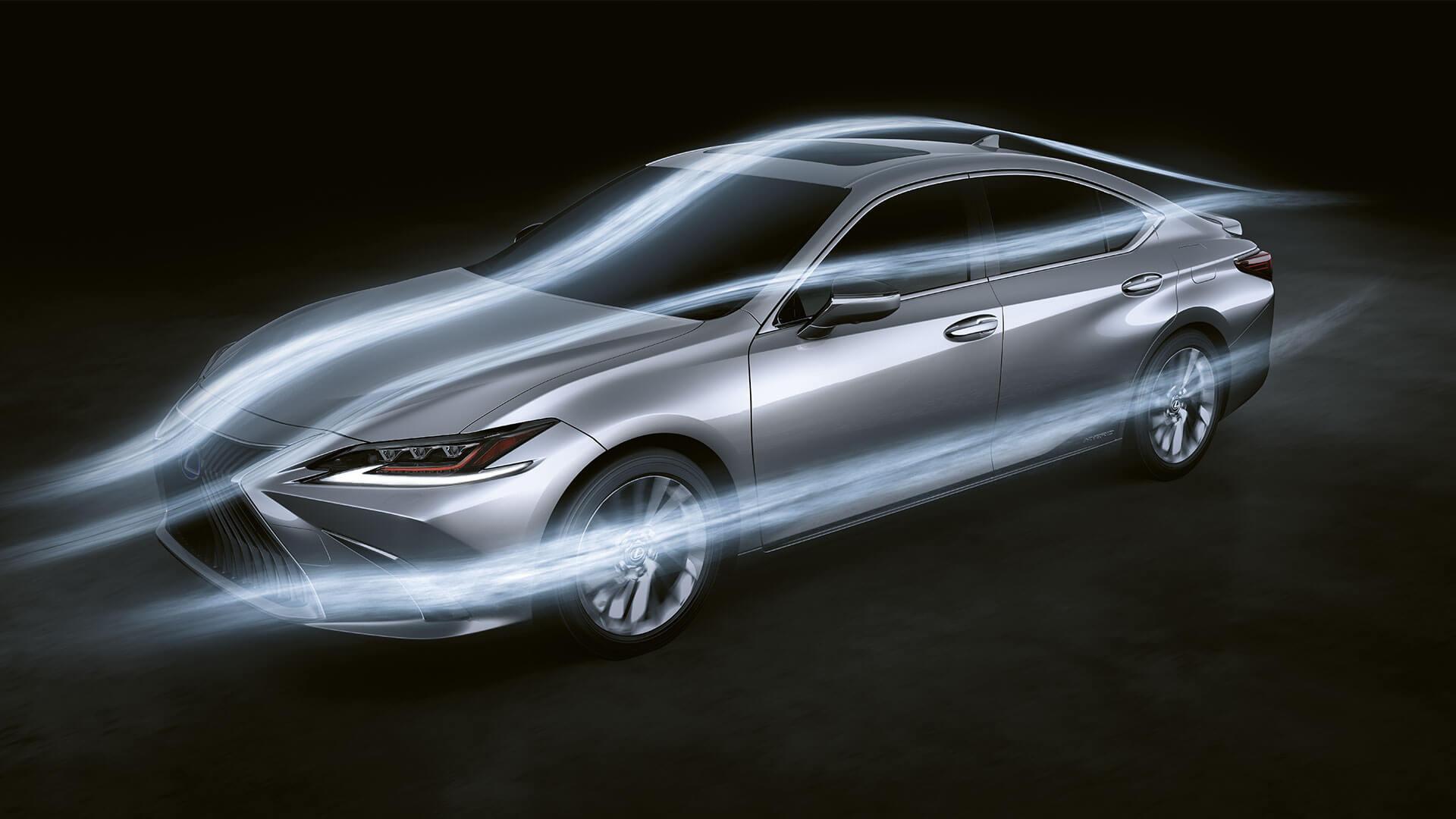 2019 lexus es hybrid experience feature aerodynamics
