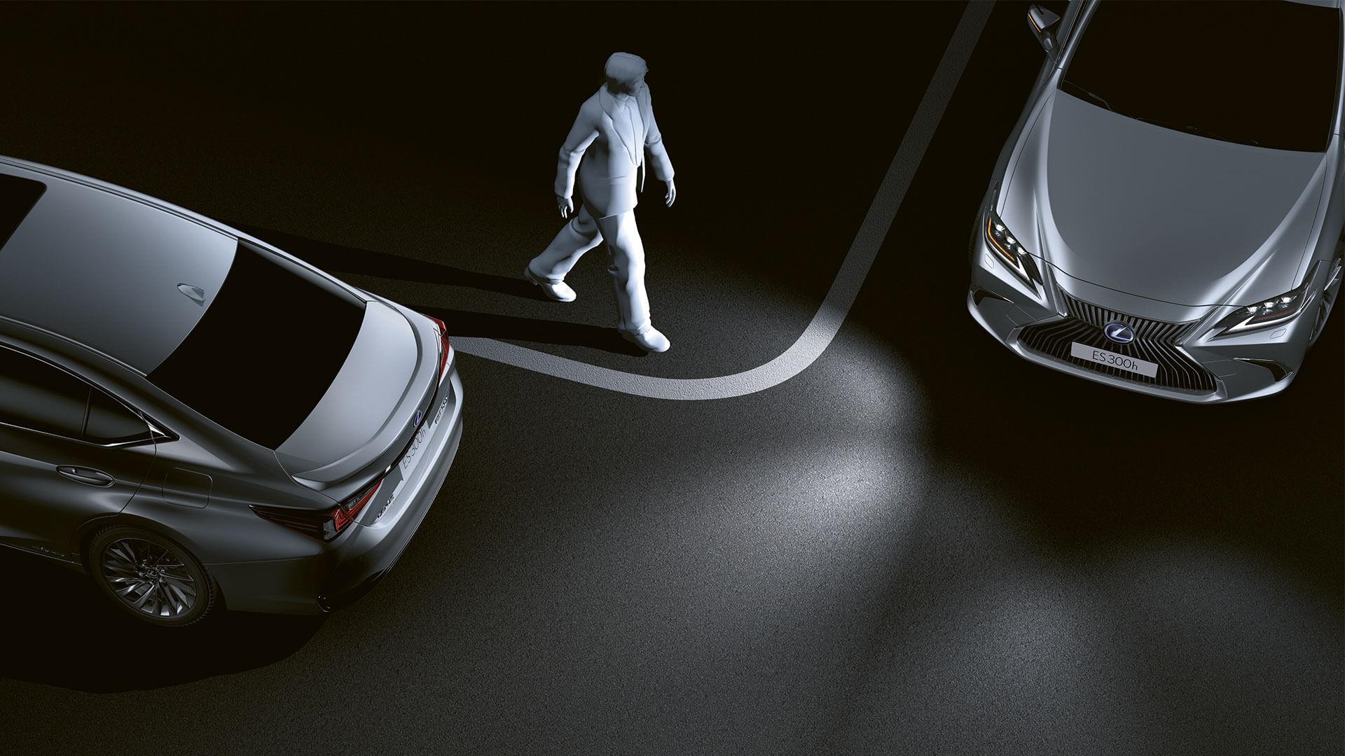 2019 lexus es hybrid experience feature cornering lights