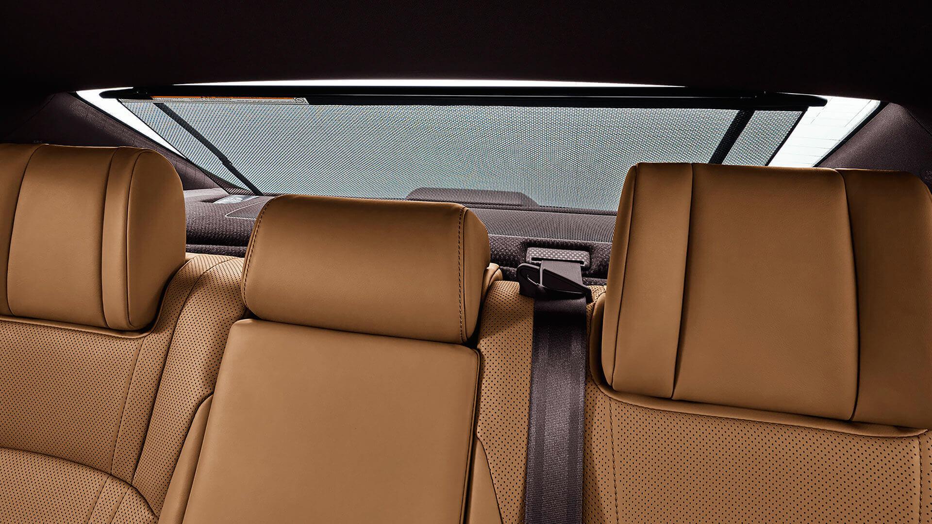 2019 lexus es hybrid experience feature rear sun shade
