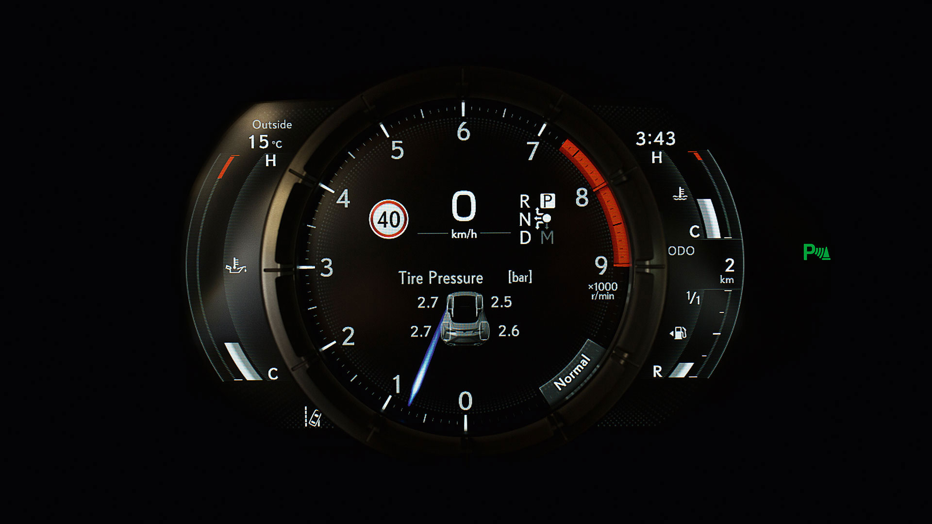 2017 lexus lc 500 features tyre pressure warning system
