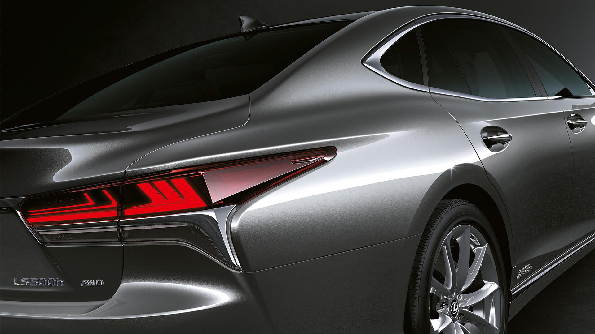 2018 lexus ls features led rear combination lights