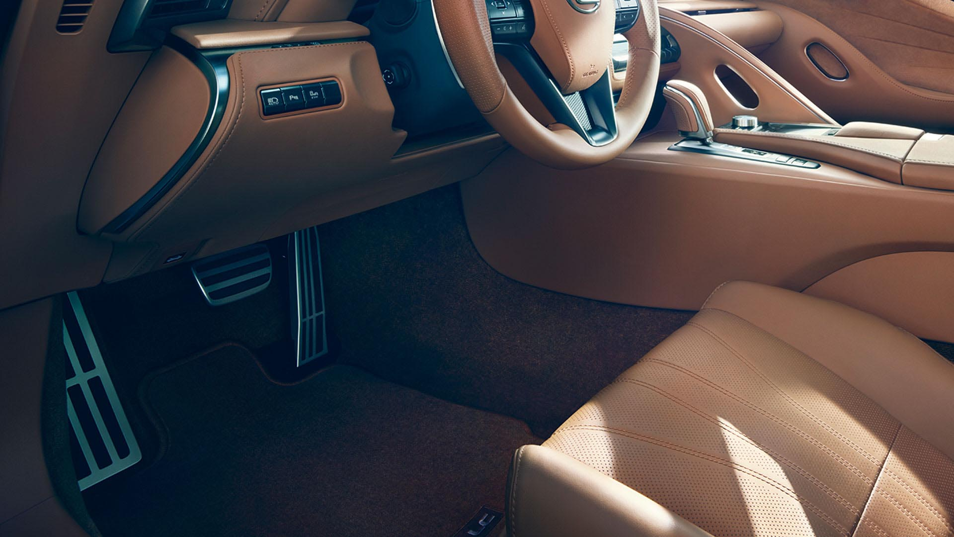 2017 lexus lc 500 features machined pedals
